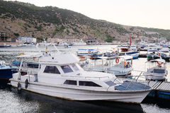 Passenger boats Stock Images