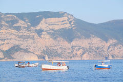 Passenger boats on the sea Stock Images