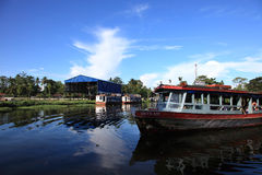 Passenger boats transporting passengers Royalty Free Stock Images