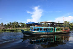 Passenger boats transporting people Royalty Free Stock Image