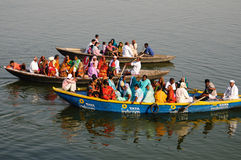 Passenger boats in Varanasi India Royalty Free Stock Photos