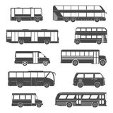 Passenger Bus Icons Black Stock Photo