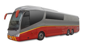 Passenger bus, isolated Royalty Free Stock Image