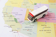 Passenger bus map Royalty Free Stock Images