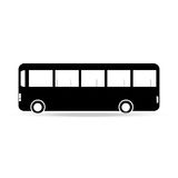 Passenger bus, a popular. Vector, icon Royalty Free Stock Photo