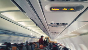 Passenger cabin airplane Royalty Free Stock Photos