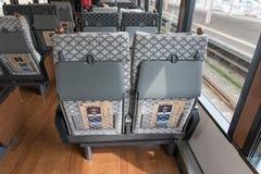 The passenger cabin of tourist train Koshino Shu*Kura. Royalty Free Stock Image