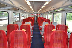 Passenger cabin on a train Royalty Free Stock Image