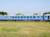 Passenger car, Blue Train for Long distance sleeper trains. CHIANG MAI , THAILAND - NOVEMBER 3 2006: Passenger car, Blue Train for Long distance sleeper trains Royalty Free Stock Photo