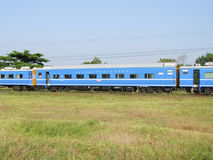 Passenger car, Blue Train for Long distance sleeper trains. CHIANG MAI , THAILAND - NOVEMBER 3 2006: Passenger car, Blue Train for Long distance sleeper trains Royalty Free Stock Photography