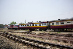Passenger car class 3 car For train from chiangmai to bangkok Royalty Free Stock Photos