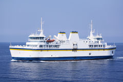 Passenger and car ferry boat stock photo