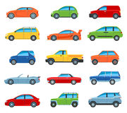 Passenger Car Icons Stock Images
