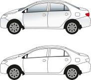 Passenger car illustration  Royalty Free Stock Photography