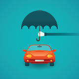 Passenger car insurance vector concept in flat style Royalty Free Stock Photo