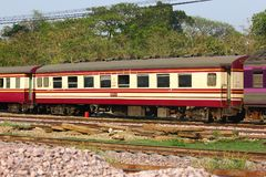 Passenger Car For Train no.52. CHIANGMAI , THAILAND- MARCH 5 2014: Passenger Car For Train no.52 to Bangkok from Chiangmai. Photo at Chiangmai railway station Royalty Free Stock Images