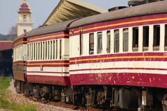 Passenger Car For Train no.52. CHIANGMAI , THAILAND- MARCH 5 2014: Passenger Car For Train no.52 to Bangkok from Chiangmai. Photo at Chiangmai railway station Stock Image