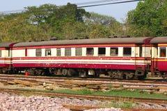 Passenger Car For Train no.52. CHIANGMAI , THAILAND- MARCH 5 2014: Passenger Car For Train no.52 to Bangkok from Chiangmai. Photo at Chiangmai railway station Stock Photo