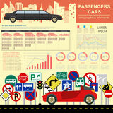Passenger car, transportation infographics Royalty Free Stock Photos