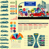 Passenger car, transportation infographics Stock Photo