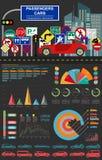 Passenger car, transportation infographics Royalty Free Stock Images