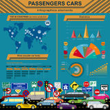 Passenger car, transportation infographics Stock Image
