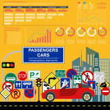 Passenger car, transportation infographics Stock Photography