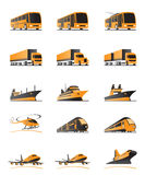 Passenger and cargo transport. Ation - vector illustration Royalty Free Stock Photo