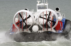 Passenger carrying hovercraft fans Royalty Free Stock Photo