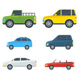 Passenger Cars Cartoon Vector Models Collection Stock Photography