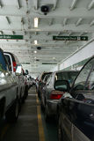 Passenger cars ride the Washington state ferry Royalty Free Stock Images