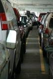 Passenger cars ride the Washington state ferry Stock Image