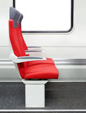 Passenger chairs in a train Royalty Free Stock Image