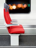 Passenger chairs in train Royalty Free Stock Photo