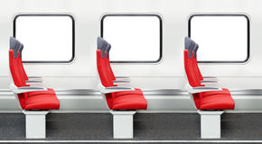 Passenger chairs in a train Royalty Free Stock Photo