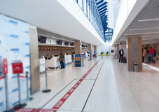 Passenger check-in area in a international airport in Chisinau Royalty Free Stock Photography