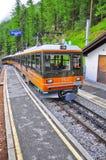 Passenger cogwheel train. royalty free stock image