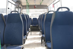 Passenger compartment of a big shuttle bus Royalty Free Stock Photography