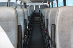 Passenger compartment of a big shuttle bus Royalty Free Stock Photos