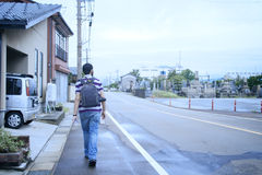 A passenger at a country side of Japan. A passenger at a country side Royalty Free Stock Photography
