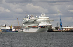 Passenger cruise liner Port of Southampton Stock Images