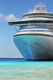 Passenger Cruise Ship. Anchored in the Caribbean waters stock photography