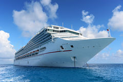 Passenger Cruise Ship Achored at Sea Royalty Free Stock Image