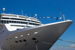 Passenger Cruise ship anchored in the harbor Royalty Free Stock Images
