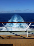 Passenger Cruise Ship Back View Stock Images