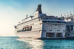 Passenger cruise ship. In Hong Kong harbour stock image