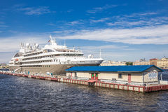 Passenger cruise ship LE BOREAL at the pier on the English embankment in St. Petersburg Stock Photo
