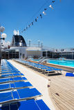 Passenger Cruise ship leisure area Stock Photo