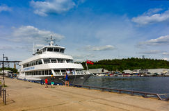 Passenger cruise ship in Parry Sound harbor Royalty Free Stock Photography