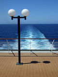Passenger Cruise ship stern view. In Brazil Royalty Free Stock Photo